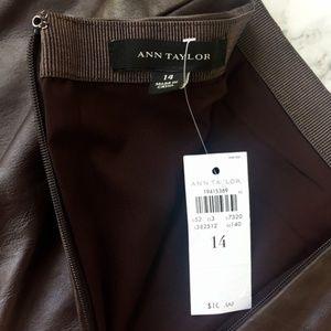 Ann Taylor Skirts - Ann Taylor Cherry Brown Vegan Leather Midi Skirt